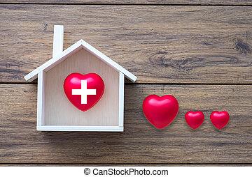 hogar, salud, dulce, hogar, asistencia médica, y, medicina