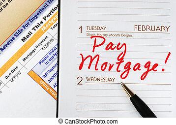 hogar, ser, seguro, hipoteca, paga