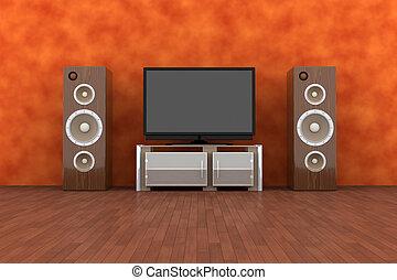 hogar, sistema, entretenimiento