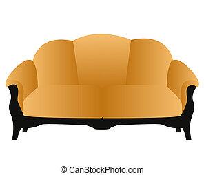 hogar, sofá, moderno, suave, cómodo