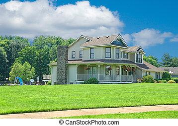 hogar suburbano