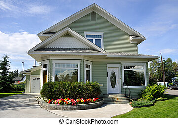 hogar, suburbano