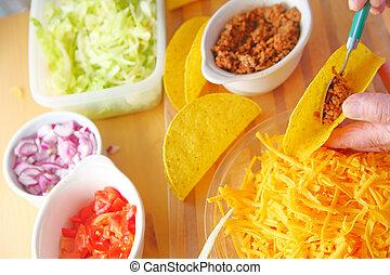hogar, tacos, elaboración