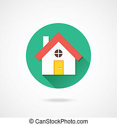 hogar, vector, icono