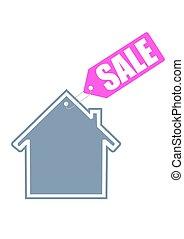 hogar, venta, icono