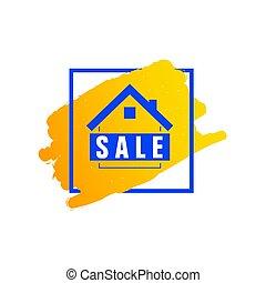 hogar, venta, ilustración, icono