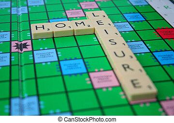 hogar, y, ocio