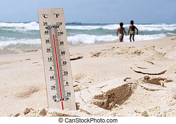 hoge hitte, temperaturen, golf