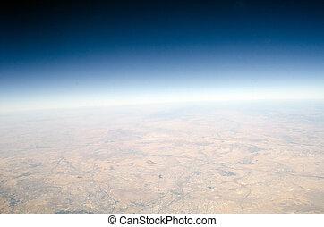 hoge hoogte, aarde, aanzicht
