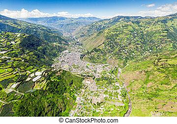 hoge hoogte, straat, ecuador