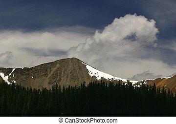 hoge hoogte, wolken