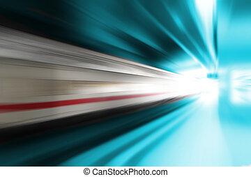 hoge snelheid, de trein van de passagier
