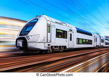 hoge snelheid trein, moderne