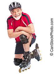 hogere mens, inline skating