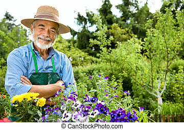 hogere mens, tuinieren