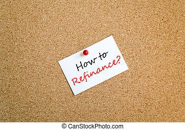 hogyan, fordíts, refinance, szöveg, fogalom