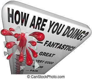 hogyan, vannak, ön, cselekedet, lázmérő, értékelés,...