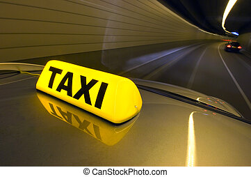 hohe geschwindigkeit, taxifahrzeuge