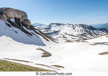 Panoramic view of the Hohe Tauern mountain range