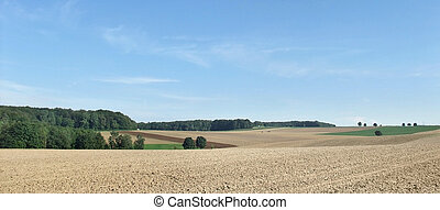 Hohenlohe - rural scenery of an area named Hohenlohe in...