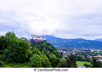 hohensalzburg, berühmter ort, erbe, unesco, festung