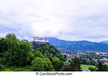 hohensalzburg, lugar famoso, herencia, unesco, fortaleza