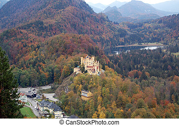 Hohenschwangau Castle (Castle of the High Swan County) was...