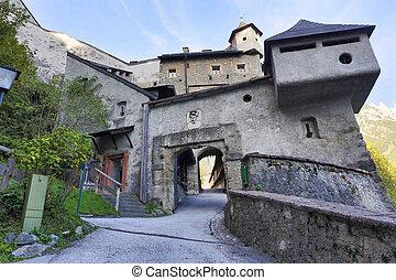 Hohenwerfen castle and fortress in Werfen, Austria.