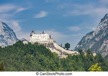 Hohenwerfen Castle in Alps, Austria
