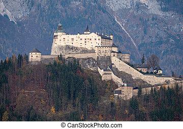 Hohenwerfen Castle in Werfen, Salzburg, Austria