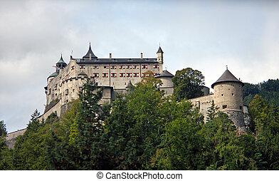 Hohenwerfen Castle, medieval castle in Austria near Salzburg