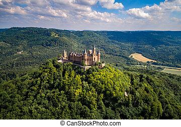 hohenzollern, château, germany.