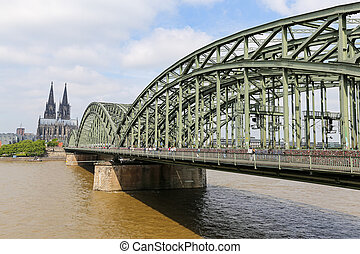 hohenzollern, kolonia, most, kolonia, niemcy, katedra