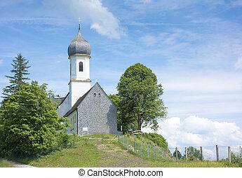hoher, peissenberg, igreja