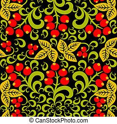 Hohloma Seamless pattern background