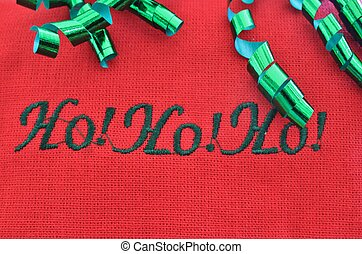 HoHoHo - A Christmas holiday greeting in green letters with ...