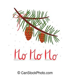 Hohoho - Christmas illustration with hohoho lettering and ...