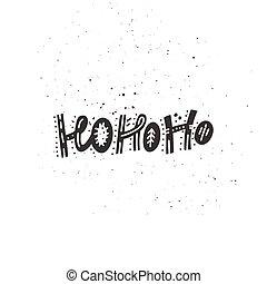 HoHoHo Christmas Lettering - Christmas and New Year ...