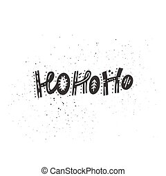 Hohoho Christmas Lettering - Christmas greeting cards ...