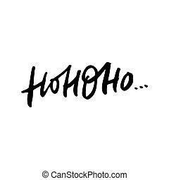 Hohoho Christmas Lettering - Hohoho - Santa's calligraphy ...