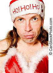 HoHoHo Merry Funny Christmas - Funny portrait of a man with ...