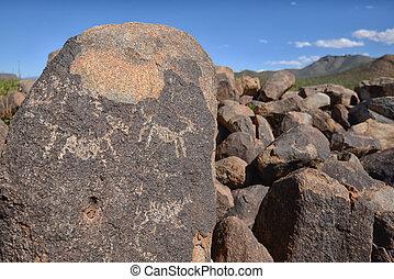 Hohokam prehistoric carvings