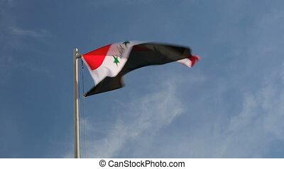 Hoist flag of Iraq