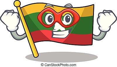 hoisted, spotprent, vlag, was, fantastisch, pool, held, myanmar