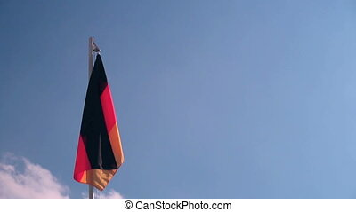 Hoisting a Germany flag