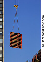 Hoisting concrete block