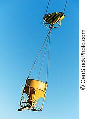 hoisting construction equipment for concrete