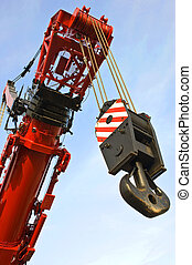 Hoisting rig - A close up of the hoisting rig and part of ...