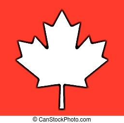 hoja, arce, canadiense