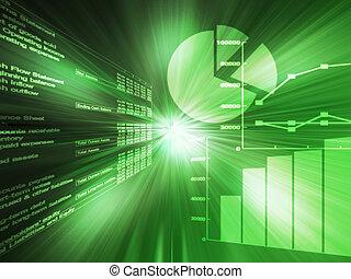 hoja de cálculo, datos, verde